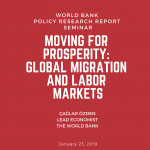 "MiReKoc Seminar by Çağlar Özden from the World Bank on ""Moving for Prosperity: Global Migration & Labor Markets"""
