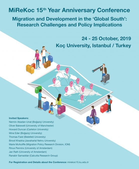 "MiReKoc 15 Year Anniversary Conference ""Migration and Development in the 'Global South': Research Challenges and Policy Implications"" Call for Papers for Young Scholars and Early Career Academics"